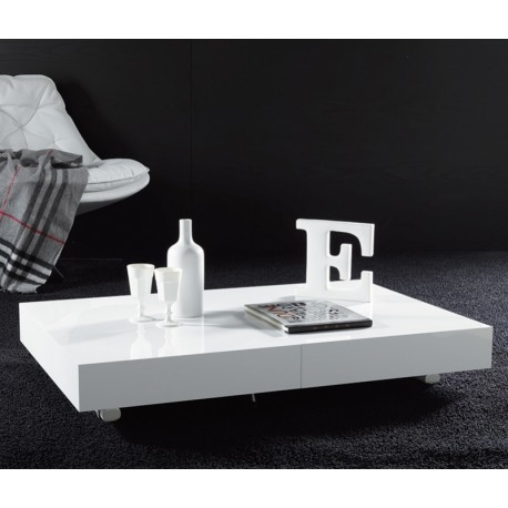 Pin table basse transformable en table ronde par cuir - Table basse convertible en table a manger ...