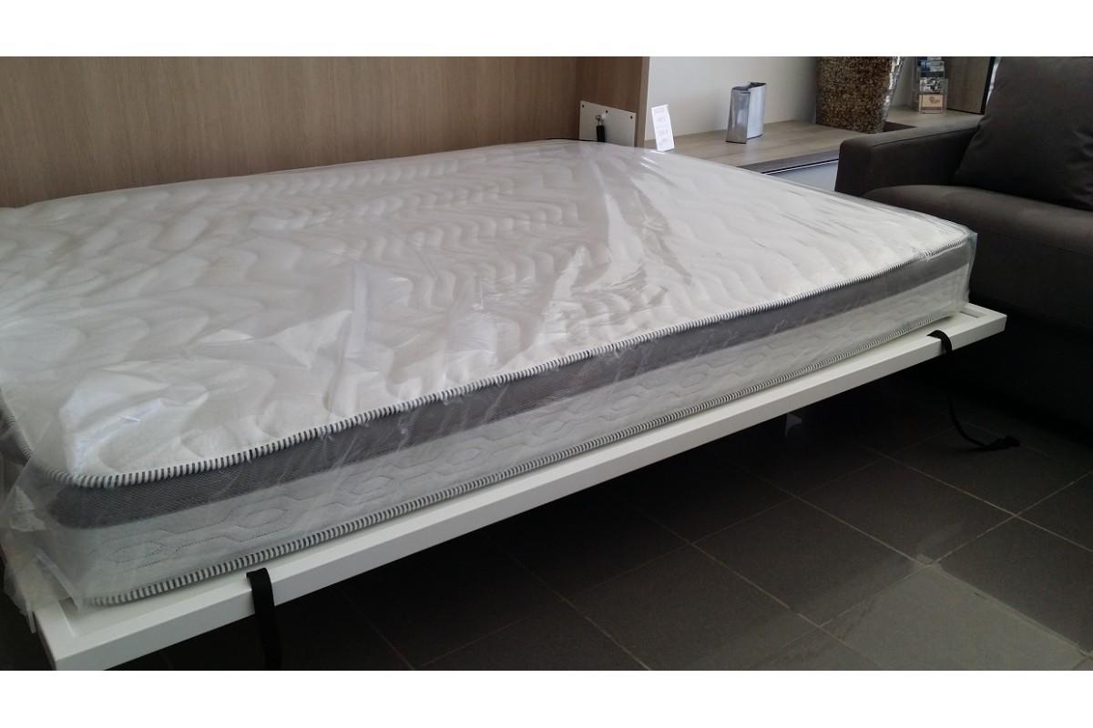 Armoire lit escamotable horizontale bureau rabatable personnalisable sur mesu - Structure lit escamotable ...