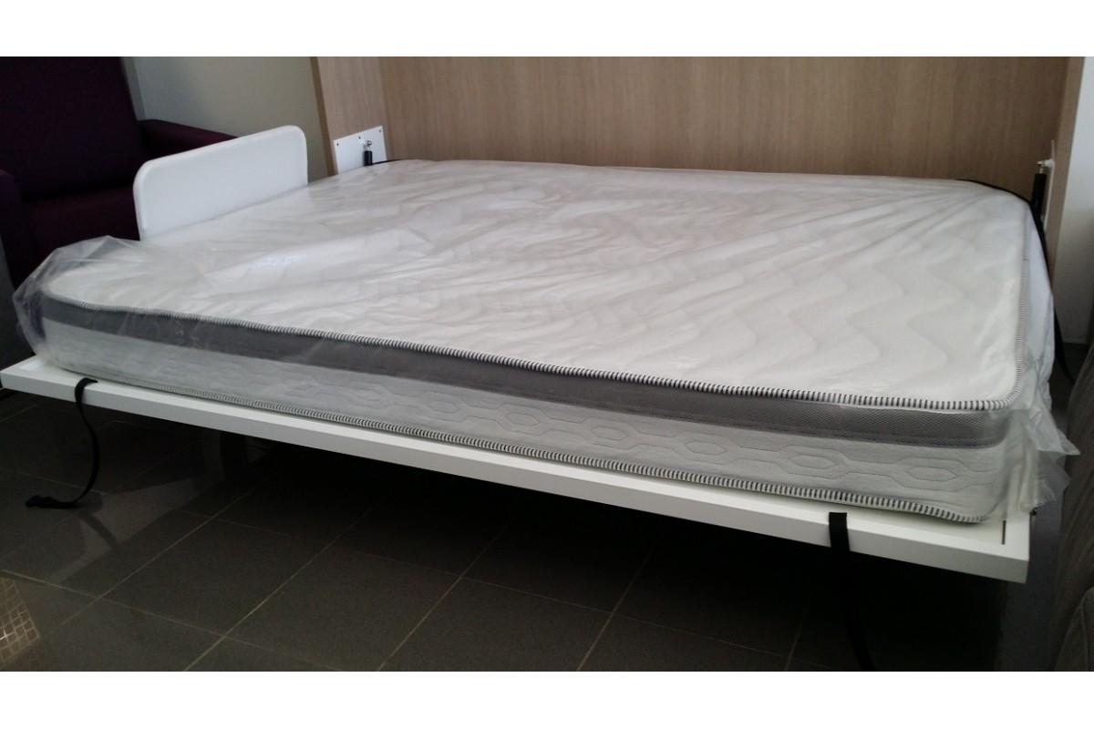 Armoire lit escamotable horizontale bureau rabatable - Prix d un lit escamotable ...