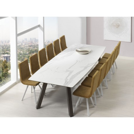 Table fixe extensible c ramique epoxy chrom bois promo discount artur cancio discalsa kuydisen - Table a repasser large plateau ...