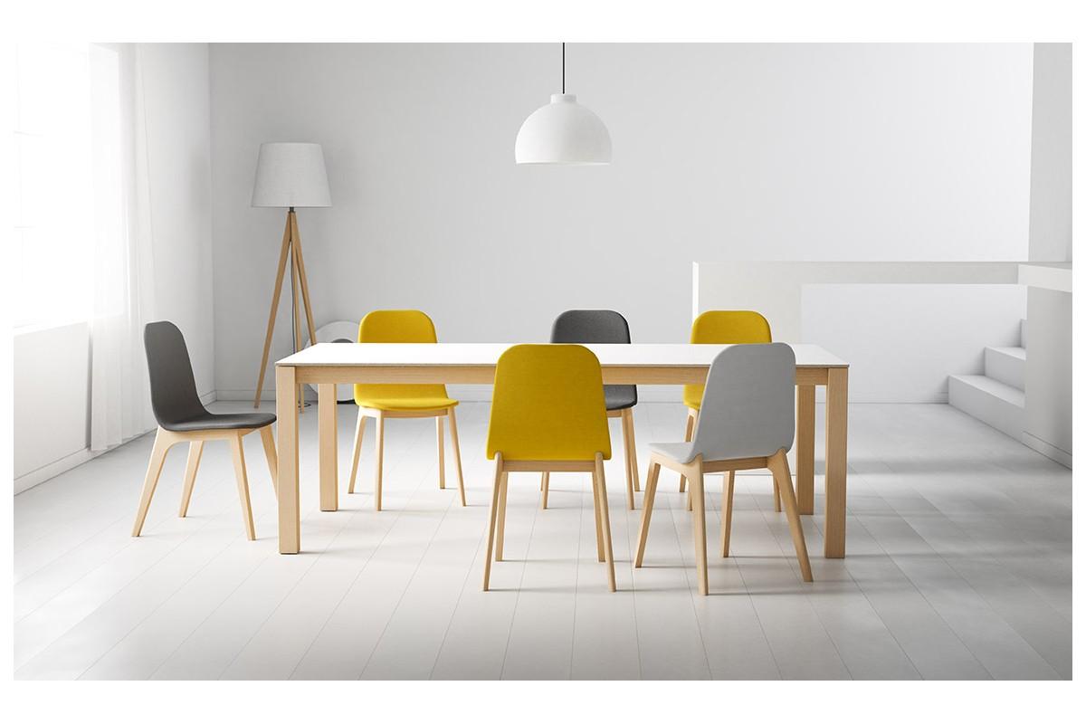 table fixe extensible c ramique epoxy chrom bois quadra nova cancio discalsa kuydisen pure. Black Bedroom Furniture Sets. Home Design Ideas