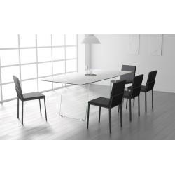 TABLE CÉRAMIQUE CA/09 ovale - pieds en verre