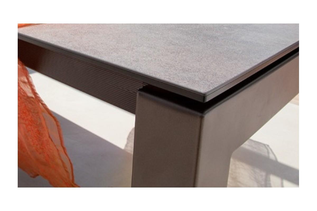 table fixe extensible c ramique epoxy chrom bois promo discount millenium cancio discalsa. Black Bedroom Furniture Sets. Home Design Ideas