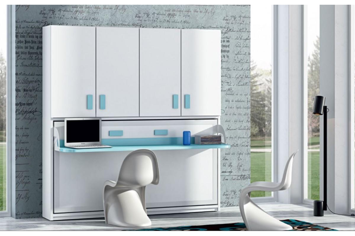 Placard Avec Lit Integre armoire-lit-escamotable-horizontal-rabatable-bureau