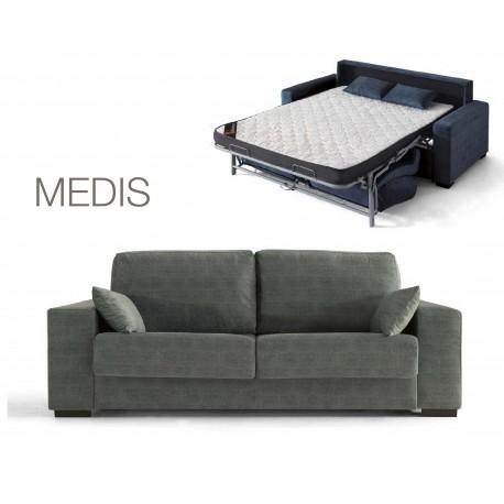 MEDIS canapé-lit type rapido fauteuil au canapé d'angle tissu & coloris au choix