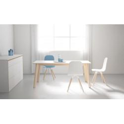 Table ovale en Céramique CA/03 pieds bois