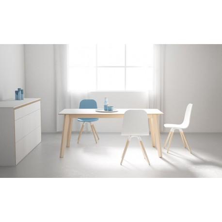 TABLE OVALE CÉRAMIQUE CA/03 pieds bois