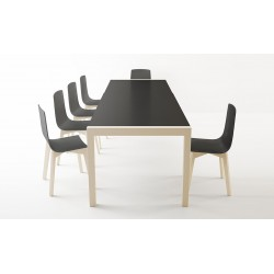 TABLE CÉRAMIQUE CA/01 version pieds bois