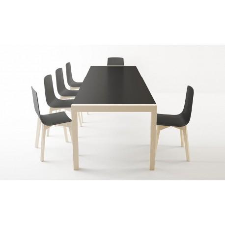 table céramique nero CA-01 BOIS blanchi - fixe ou extensible