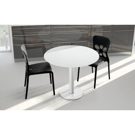 Table ronde CÉRAMIQUE KU/08 pieds métal époxy PERSONNALISABLE