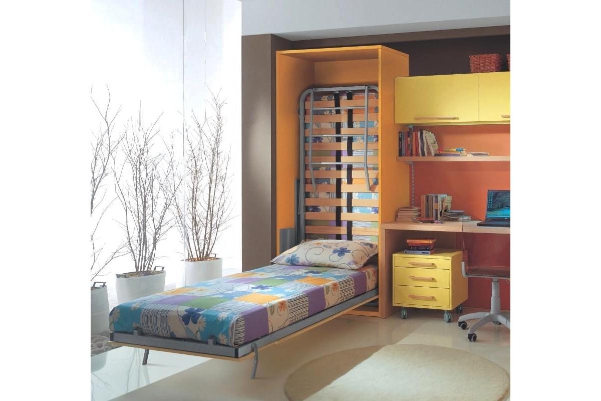 armoire lit superpos escamotable vertical rabatable personnalisable sur mesure salon chambre. Black Bedroom Furniture Sets. Home Design Ideas