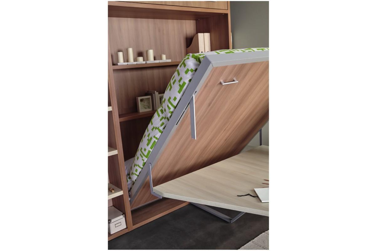 armoire lit escamotable vertical rabatable table repas. Black Bedroom Furniture Sets. Home Design Ideas
