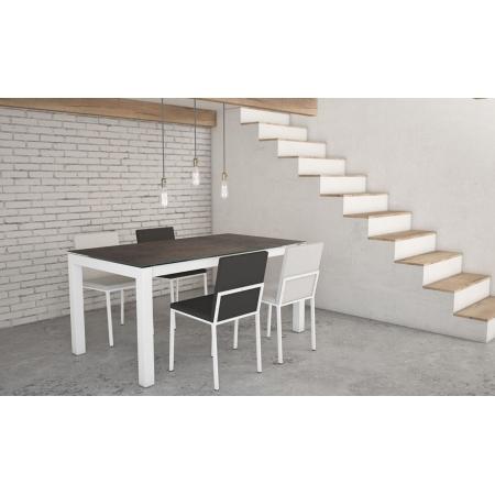 table fixe extensible c ramique epoxy chrom bois tokio. Black Bedroom Furniture Sets. Home Design Ideas