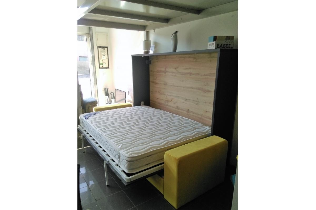 armoire lit escamotable 140x190 gain de place avec canap. Black Bedroom Furniture Sets. Home Design Ideas