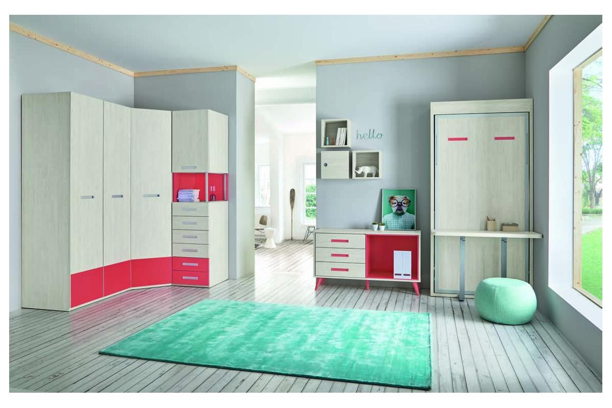 armoire lit escamotable vertical rabatable bureau. Black Bedroom Furniture Sets. Home Design Ideas
