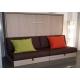 Armoire Lit Horizontal PARIS avec Canapé et 2 coffres de rangement sous les assises - meuble gain de place Personnalisable