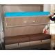 Armoire Lit Horizontal PARIS avec Canapé - Vérins pour ralentir la descente et faciliter la remontée du lit rabattable