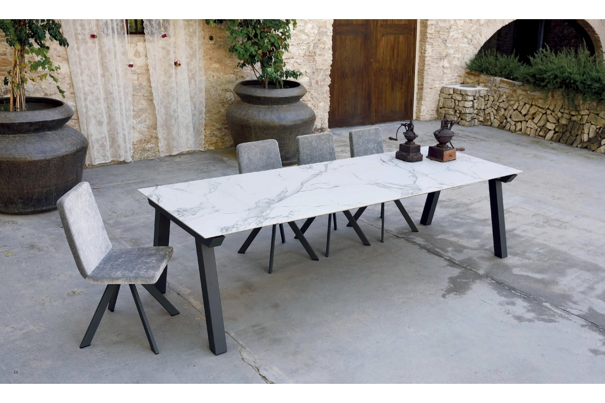 Céramique Epoxy Fixe Dekton Extensible Chromé Bois Promo Table WEIDY29H