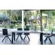 Table extensible KU/05 PLUS avec plateau et allonges en DEKTON finition Aura groupe 3 vendue à Bordeaux