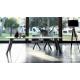 REF. KU-10 très grande table design ovale en Céramique sur verre ou en Dekton jusqu'à 3,60 m de long et 1,25 m de large