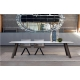 REF. KU-10 très grande longueur de table jusqu'à 3,60 m et 1,25 m de large avec plateau en Céramique sur verre ou en Dekton