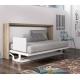 Armoire lit Horizontal avec Bureau transformable en vrai lit confortable pour 1 personne de 90x190 cm vendu proche de Hyères