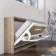 Armoire lit Horizontal avec Bureau est un meuble qui se transforme en vrai lit simple confortable de 90x190 cm vendu au Lavandou