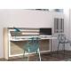 Cette Armoire lit est un meuble gain de place double fonction qui se convertit en lit simple de 90x190 cm vendu proche de Toulon