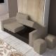 Armoire Lit Vertical PARIS avec Canapé confortable - Meuble gain de place personnalisable
