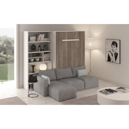 Armoire Lit Vertical PARIS Canapé d'angle à gauche confortable et personnalisable
