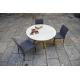 Table ronde en Céramique sur verre ou en Dekton pas cher livrable sur Marseille
