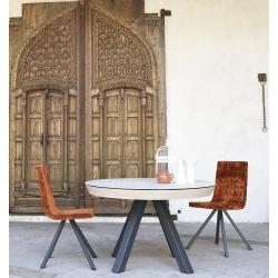 Table ronde EXTENSIBLE en Céramique sur verre ou en Dekton pas cher livrable sur Paris