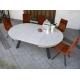 Table ronde EXTENSIBLE en Céramique sur verre ou en Dekton pas cher livrable sur Marseille