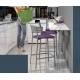 table d'appoint rabattable pour gagner de la place dans une petite cuisine, un studio, un gîte sur Montpellier