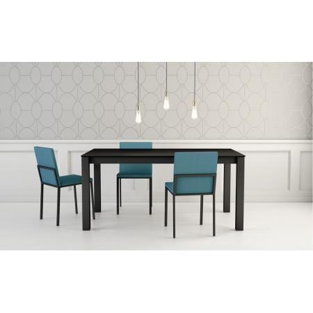 Table en Céramique sur verre avec structure et pieds en métal epoxy pas cher livrable sur Strasbourg