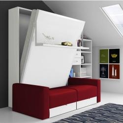 Armoire Lit vertical PARIS 2 avec Canapé
