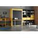 Lit escamotable vertical 140x190 cm avec Bureau intégré pour optimiser l'espace d'un studio livrable sur Paris