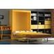 Armoire lit vertical 140x190 cm avec Bureau intégré pour optimiser l'espace d'un petit appartement livrable sur Paris