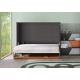 Lit escamotable horizontal 140x190 cm avec Bureau intégré pour gagner de la place dans un studio livrable sur Paris