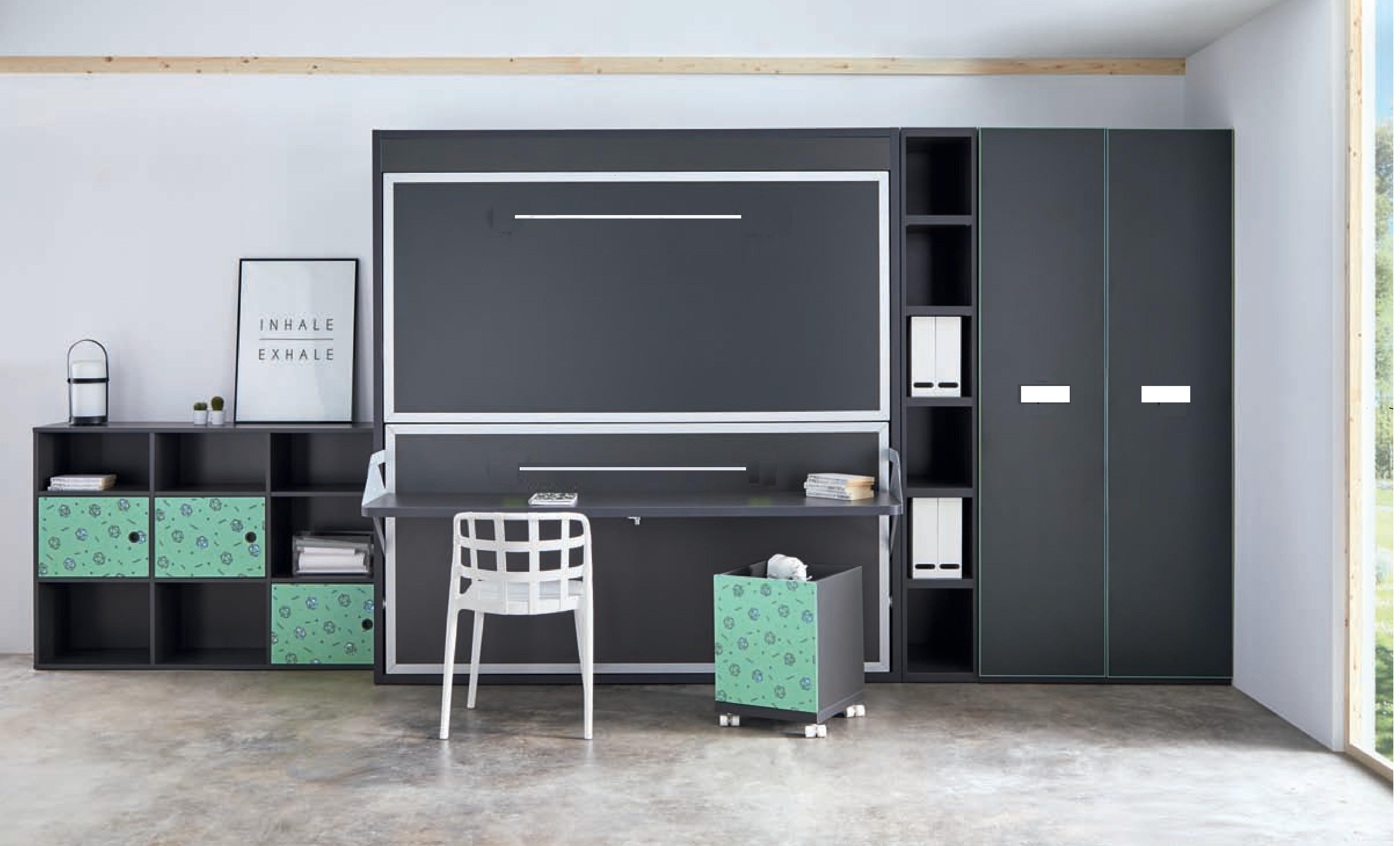 Tv Escamotable Lit armoire-lit-superposé-escamotable-horizontale-rabatable-avec