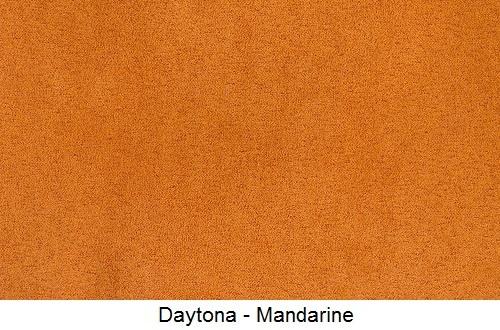 tissu microfibre DAYTONA-MANDARINE